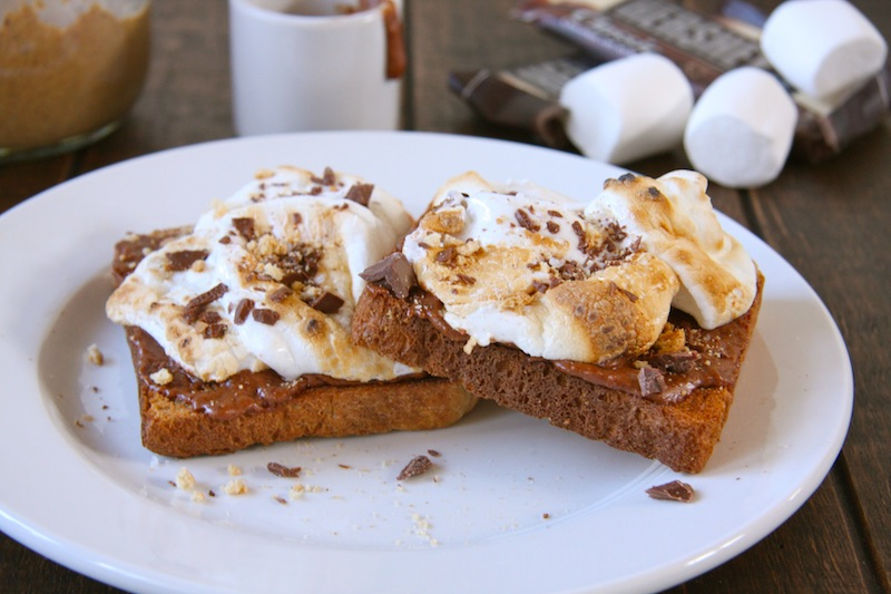 Chocolate Almond Butter S'mores Toast I 24 Carrot Life