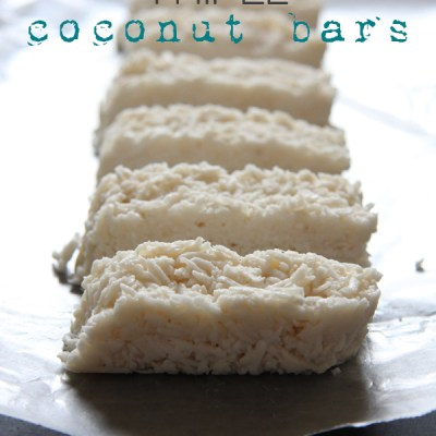 Triple Coconut Bars