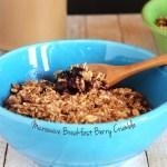 Microwave Breakfast Berry Crumble