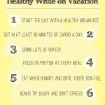 5 Tips (+ a Bonus Tip) on How to Stay Healthy While on Vacation // 24 Carrot Life #healthyliving #healthy #travel #healthytips