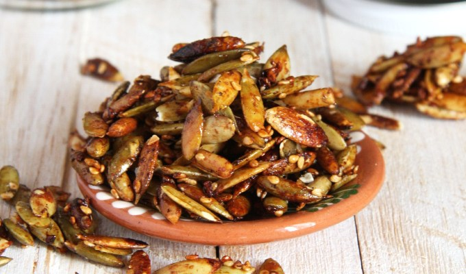 Sweet and Salty Roasted Pepitas
