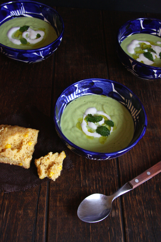 Chilled Cucumber Avocado Soup // 24 Carrot Life #healthy #glutenfree
