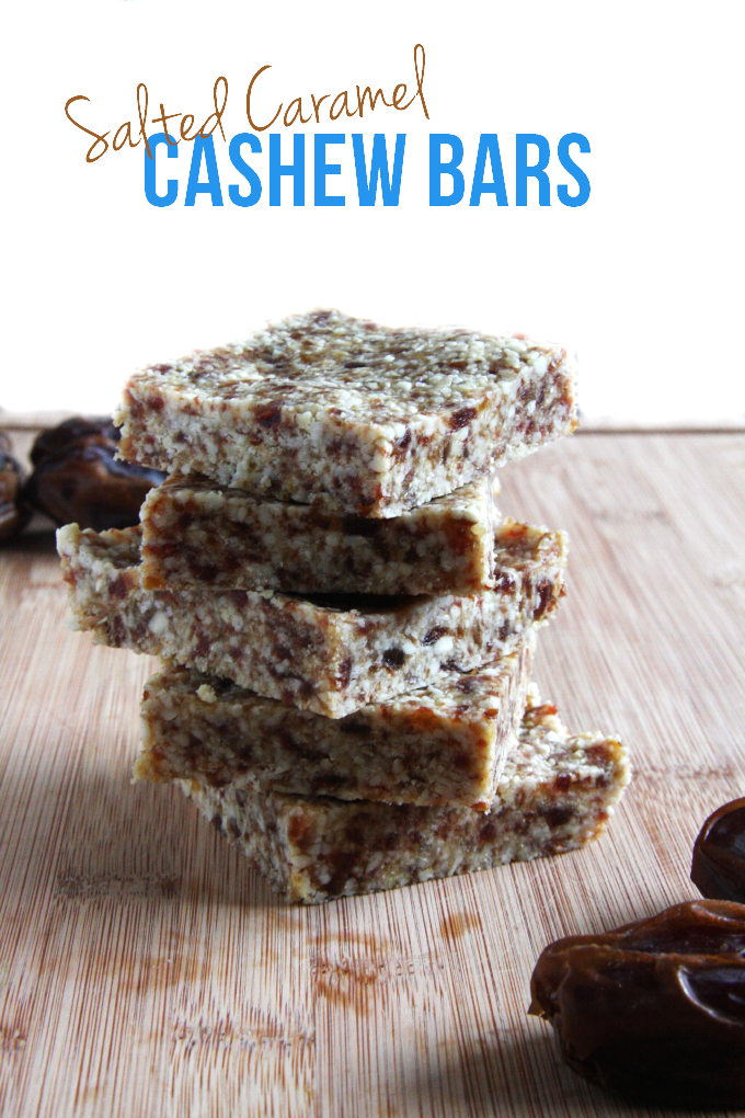 Salted Caramel Cashew Bars // 24 Carrot Life #reciperedux #healthy #cleaneats
