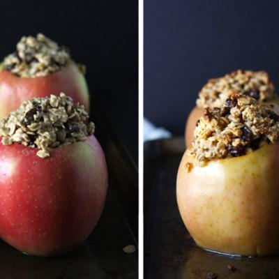Oatmeal Raisin Cookie Baked Apples