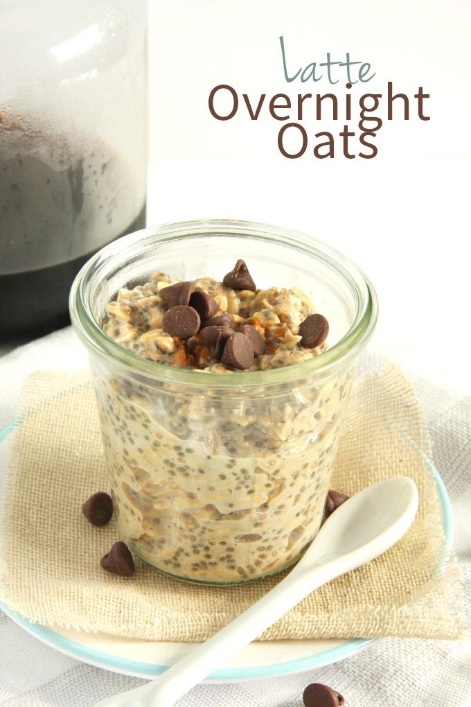 Latte Overnight Oats (Vegan) // 24 Carrot Life #vegan #glutenfree #ilovesilksoy #ad