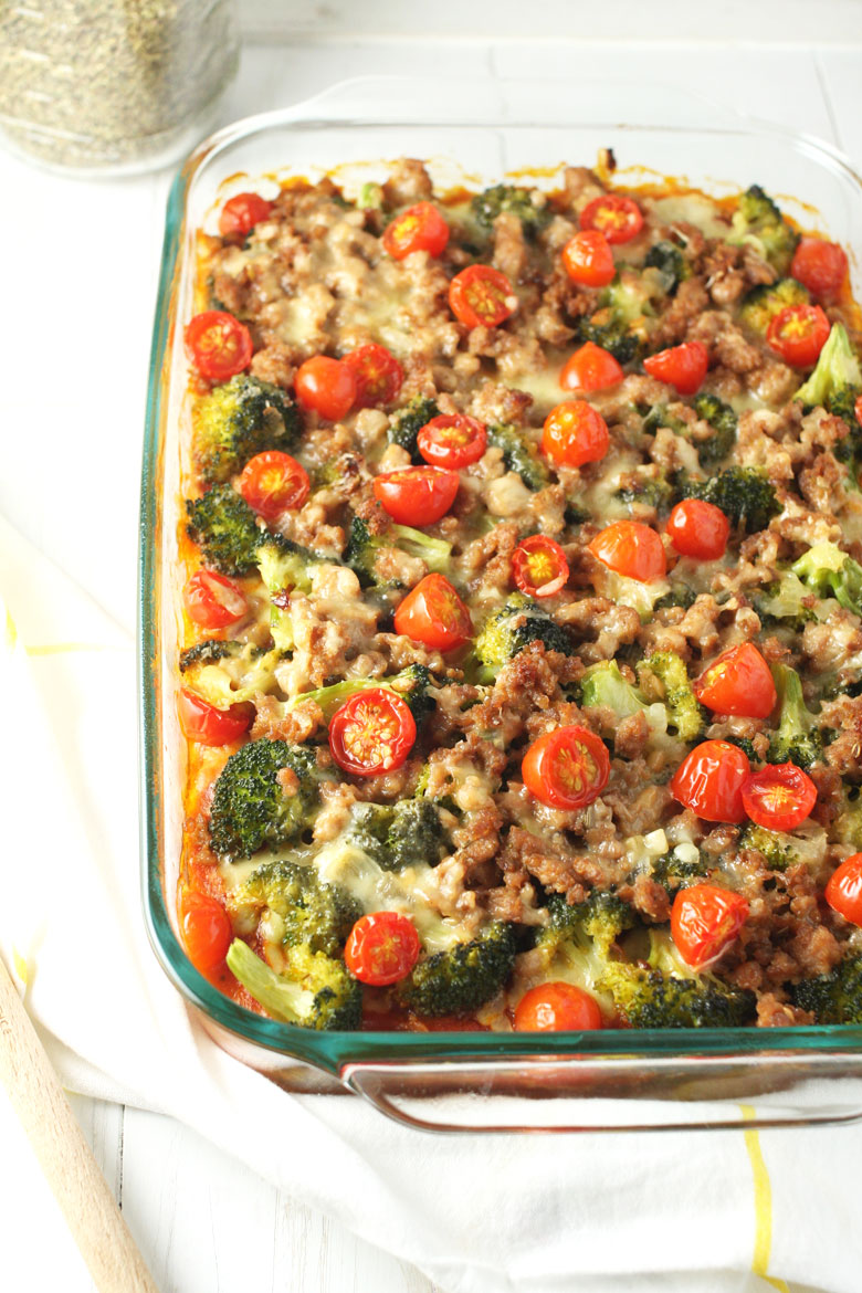 Sausage Polenta Bake // @24carrotlife #JoinTheTable @colavitaevoo