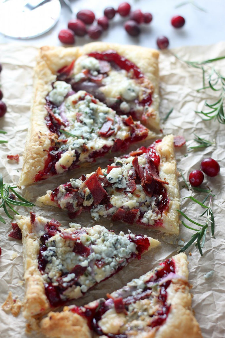 Cranberry Sauce Pizza