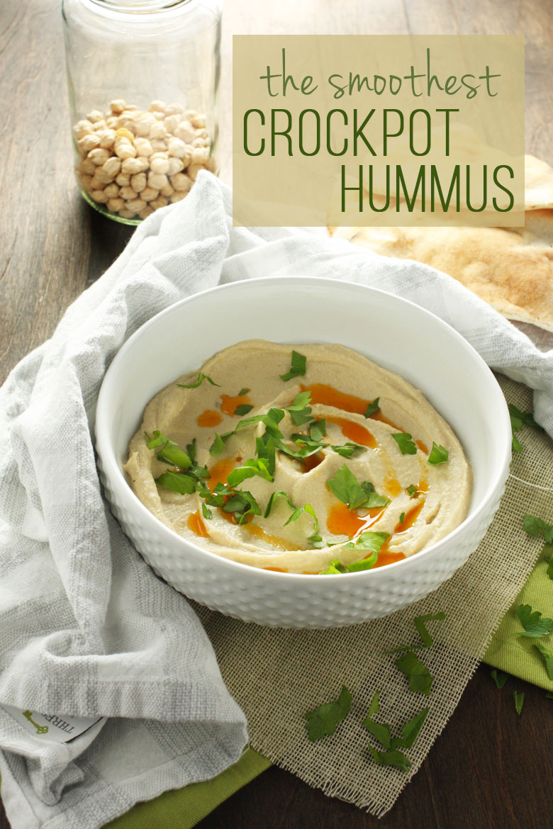 The Smoothest Crockpot Hummus // 24 Carrot Life