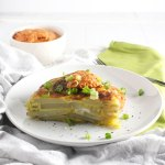Tortilla Española with a Roasted Red Pepper Sauce