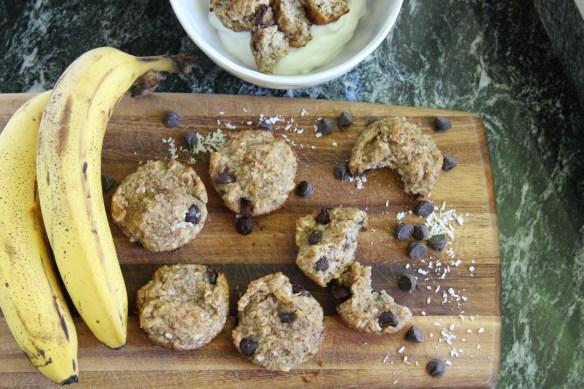 Gluten Free Chocolate Chip Banana Muffins