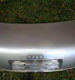 2001 audi a6 trunk metal shell light silver [ 1600 x 1200 Pixel ]