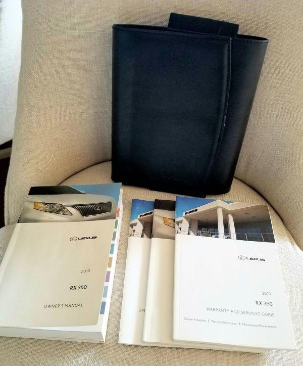 lexus rx350 owners manual 2010