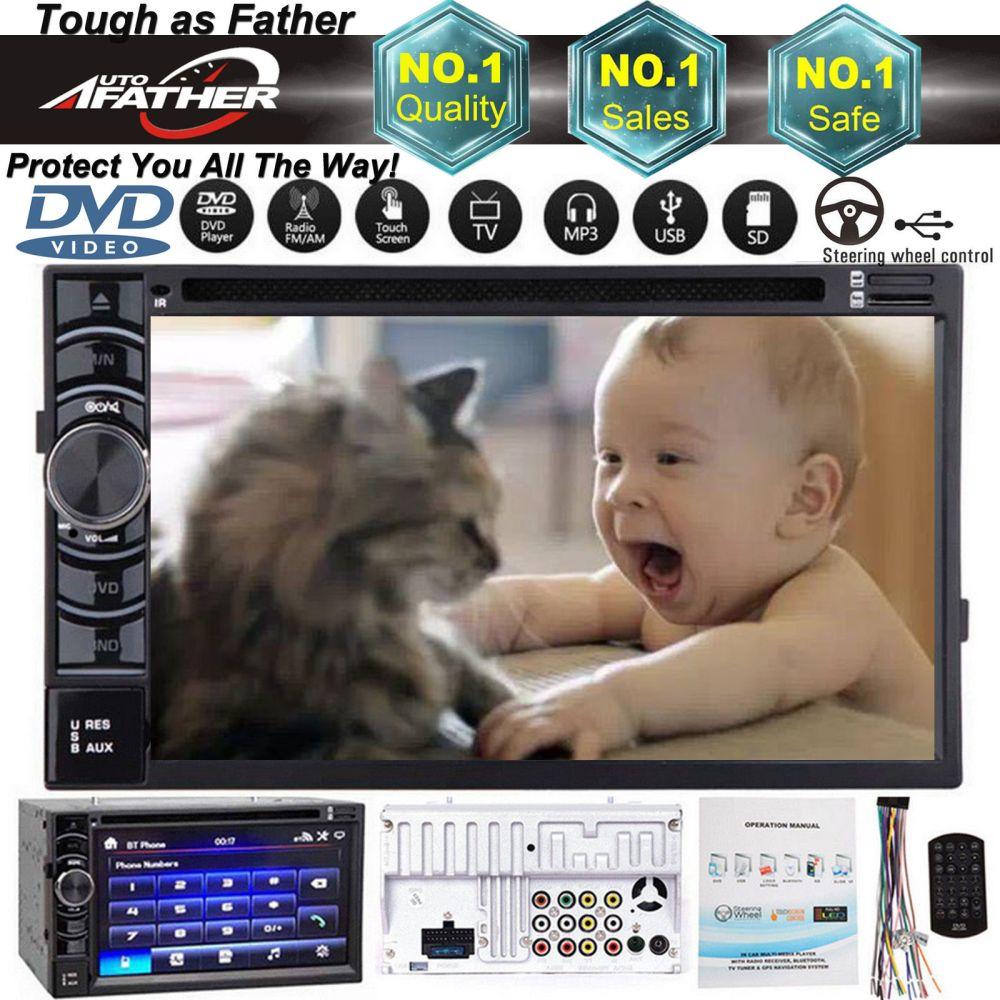 medium resolution of great for gmc canyon yukon double din 6 2 car stereo dvd radio player bluetooth fm am 2018 2019