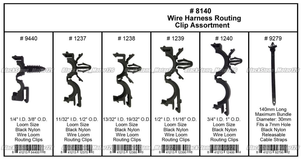 medium resolution of great 54 x wiring harness wire loom routing clips assortment convoluted conduit for gm 2018 2019