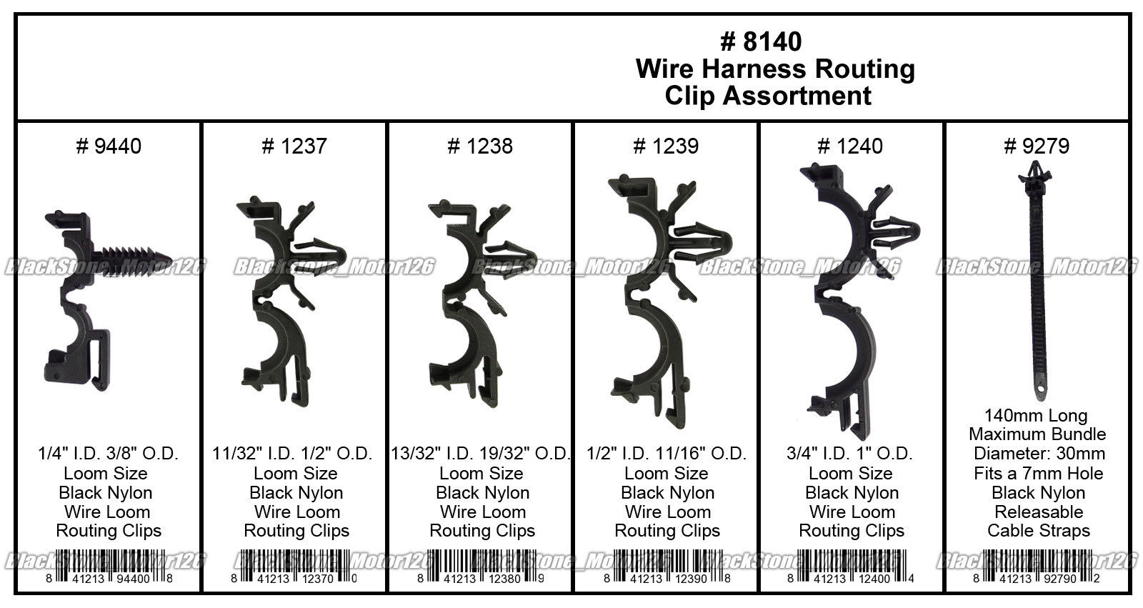 hight resolution of great 54 x wiring harness wire loom routing clips assortment convoluted conduit for gm 2018 2019