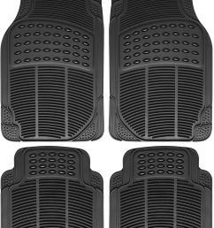great auto floor mat for ford car truck suv van 4pc full set all weather rubber black 2017 2018 [ 1197 x 1497 Pixel ]