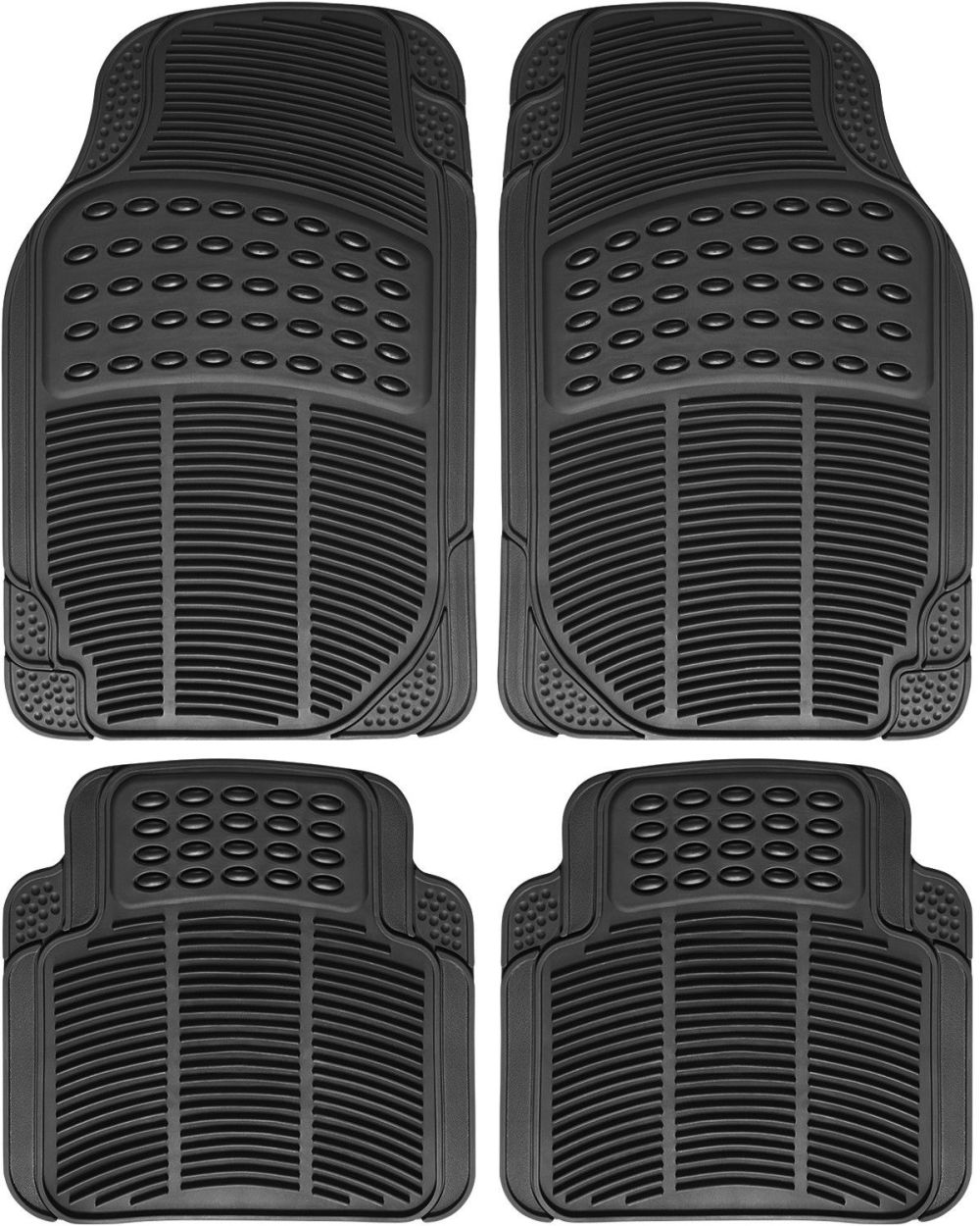medium resolution of great auto floor mat for ford car truck suv van 4pc full set all weather rubber black 2017 2018