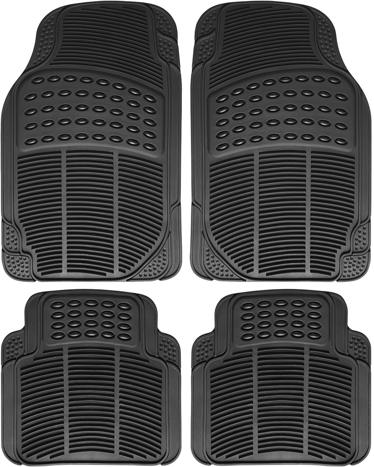hight resolution of great auto floor mat for ford car truck suv van 4pc full set all weather rubber black 2017 2018