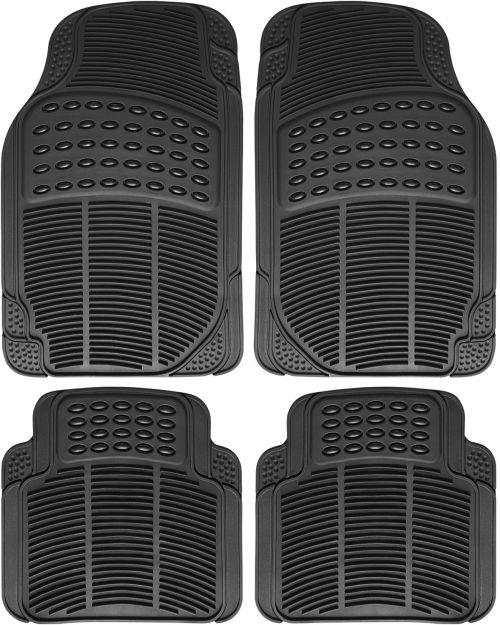 small resolution of great auto floor mat for ford car truck suv van 4pc full set all weather rubber black 2017 2018
