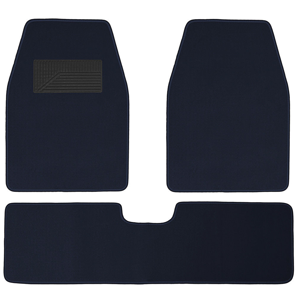 medium resolution of awesome auto floor mats for ford car truck suv van 3pc full set heavy duty blue carpet 2017 2018