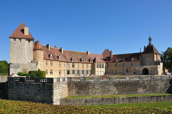 The Cistercian Monastery of Epoisses in Côte d'Or, Burgundy