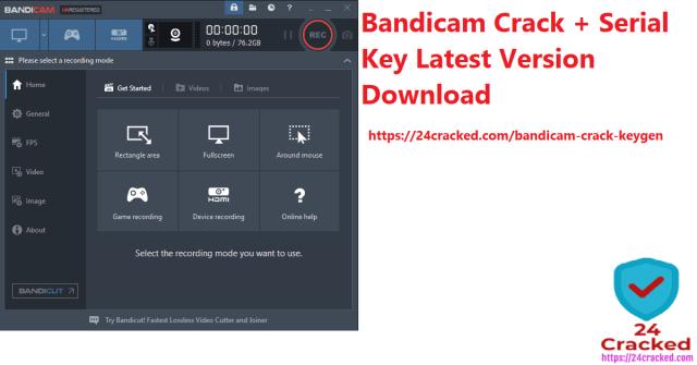 Bandicam Crack + Serial Key Latest Version Download