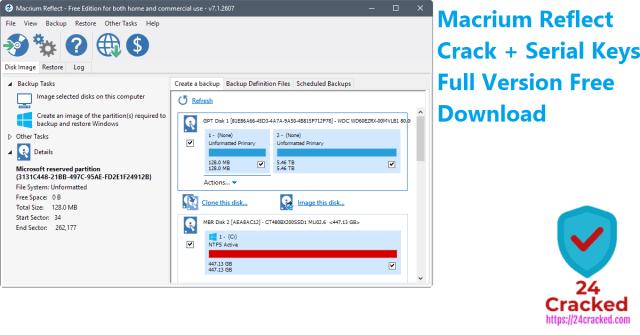 Macrium Reflect Crack + Serial Keys Full Version Free Download