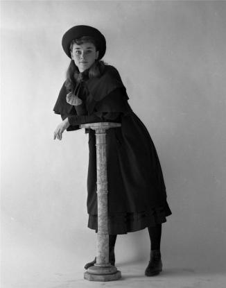 AUDREY HEPBURN GIGI THEATRE 1951 11x14 DBW Photo Embossed by MILTON GREENE GR34