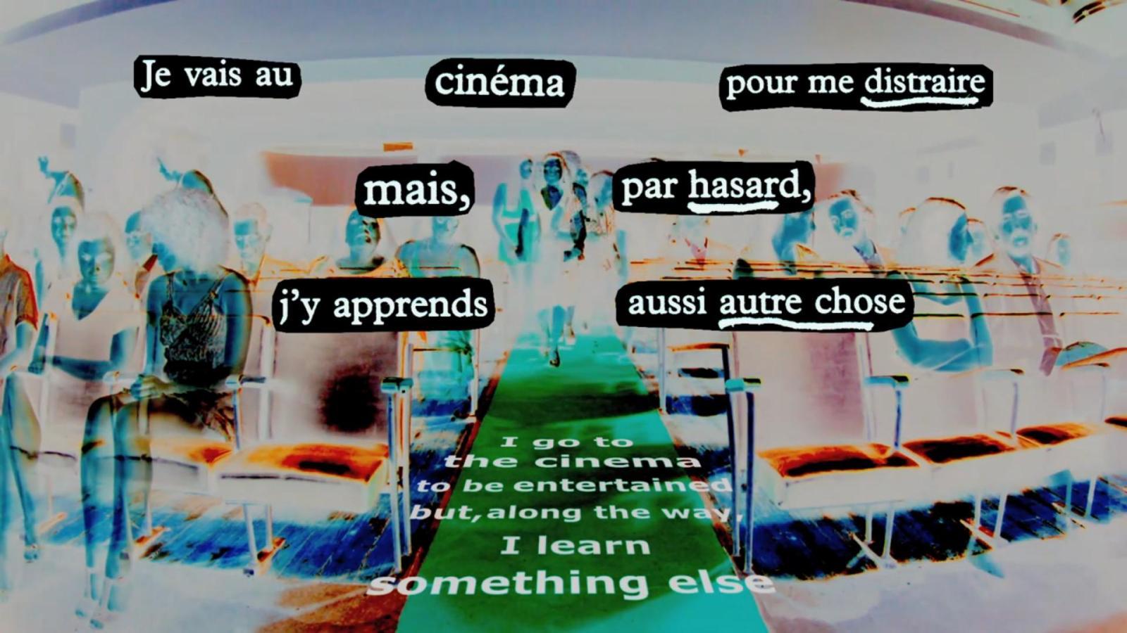 Je vais au cinéma…