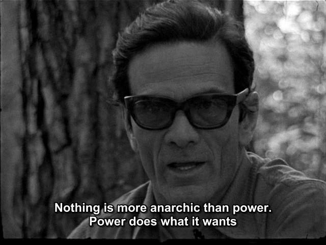 Pasolini: L'anarchia del potere