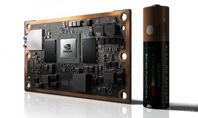 Мощный компьютер от NVIDIA по величине сопоставим с банковской картой (5 фото)