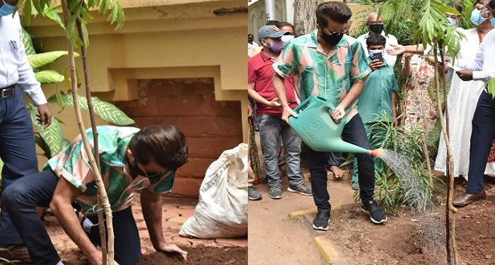 Anil Kapoor planted saplings in Juhu on World Environment Day.