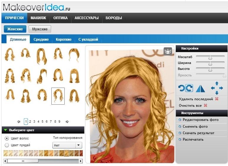 Приложение прически макияж скачать готская программа скачать