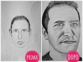 Autoritratto prima e dopo il Drawing Lab