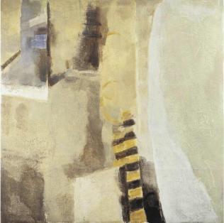 Ercole Monti_Vaporetto 2003_olio su tela_150x150cm