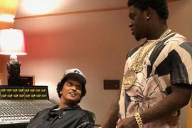 Bruno Mars and Kodak Black Hit the Studio