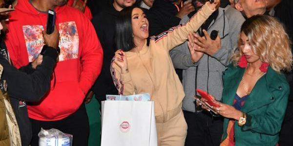 Cardi B Hands Out Winter Coats in Brooklyn