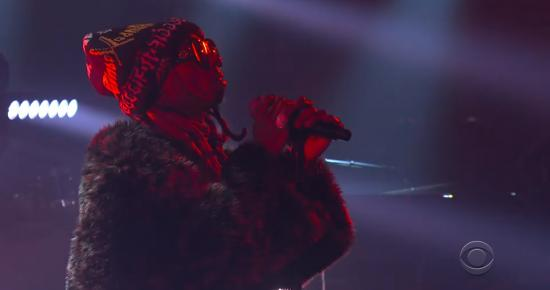 Lil Wayne Performs Dont Cry On Late Show