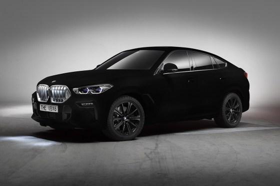 2020 BMW X6 Vantablack Is Dressed in 'The World's Blackest Black'