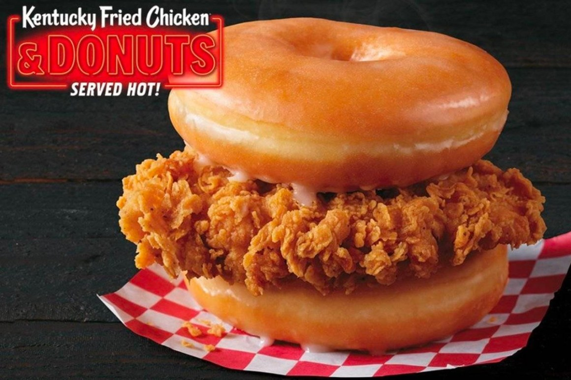 KFC Is Now Serving Fried Chicken & Donuts at Select Locations