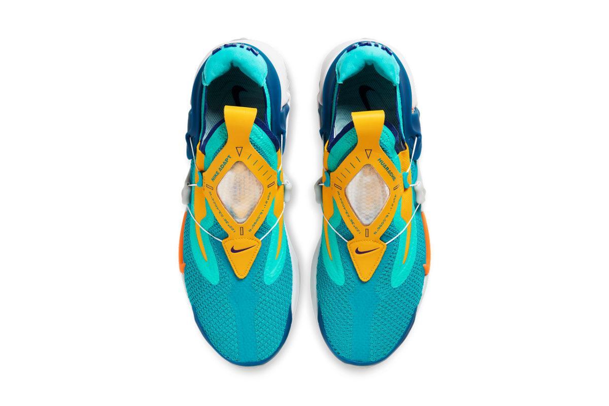 "Nike Adapt Huarache Powers up in ""Hyper Jade/Total Orange"""