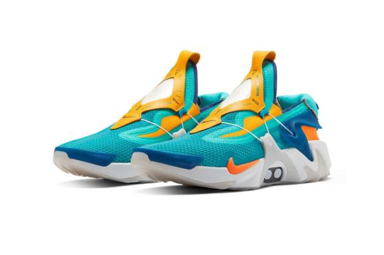 "Nike Adapt Huarache Powers up in ""Hyper Jade/Total Orange"""