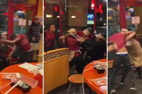 Popeyes Employee Brawl Caught on Video by Shocked Customer