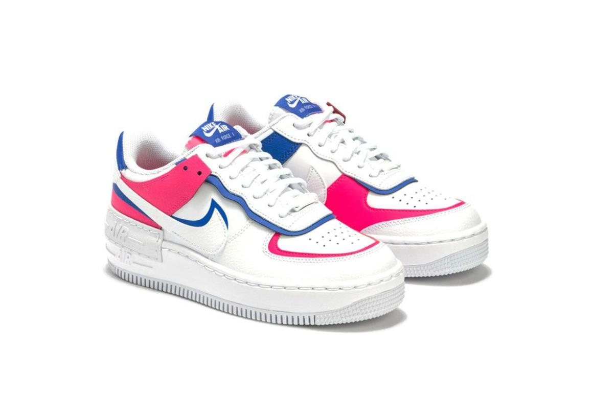 Nike's Latest Air Force 1 Shadow in 'White/Blue/Pink'