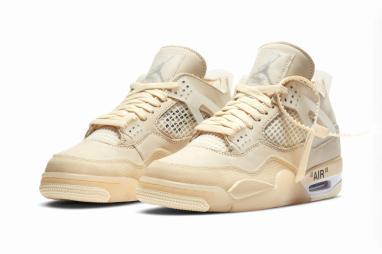 "Take an Official Look at the Off-White™ x Air Jordan 4 ""Sail"""
