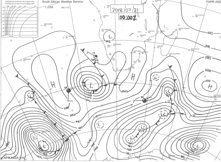 Synoptic chart for 31 July 2018. You can download your