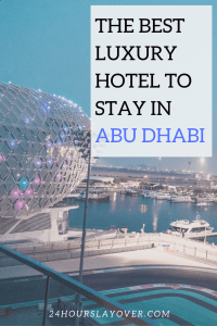 the best luxury hotel to stay in abu dhabi yas hotel