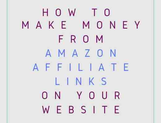 How to make money from Amazon affiliate links on your website