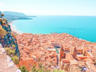Cefalu view from viewpoint Sicily