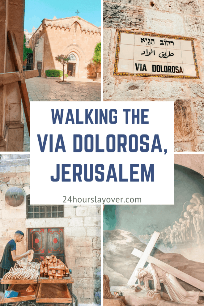 walking Via Dolorosa Jerusalem